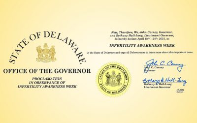 National Infertility Awareness Week Officially Proclaimed in Delaware